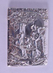 Henry Matthews silver card case