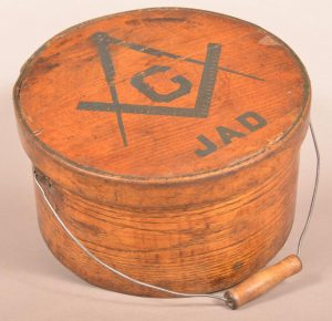 19th Century Bentwood Pantry Box with Masonic Symbol