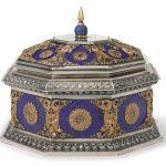 American silver, gold and lapis lazuli box, Edward F. Caldwell