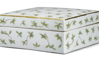 A FAMILLE-ROSE 'ORCHID' BOX AND COVER