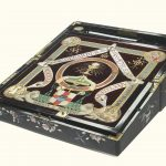 A Japanese lacquer writing box and cover