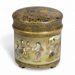 A Japanese Satsuma Box and Cover
