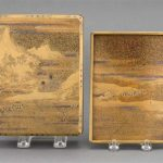 JAPANESE GOLD LACQUER WRITING BOX 18th/19th Century