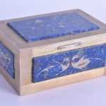 20TH CENTURY CONTINENTAL SILVER AND LAPIS LAZULI BOX