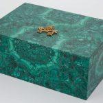 Malachite Veneered Onyx Box