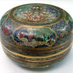 Chinese cloisonne box, Qianlong mark