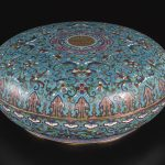 A LARGE CLOISONNE BOX AND COVER QING DYNASTY, QIANLONG PERIOD