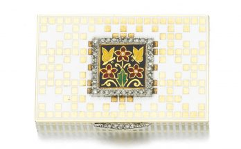Enamel and diamond pill box, Cartier, early 20th century