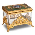 A 20th century glass and ormolu mounted box