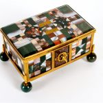An Italian specimen hardstone table casket, late 19th/early 20th century