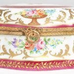 French Limoges Porcelain Box with Ormolu Mounts