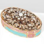 "A 19th century Swiss gold and enamel ""Turkish Market"" presentation snuff box"