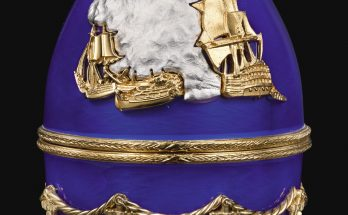 The Trafalgar Egg, An enamel, silver-gilt and parcel-gilt metal commemorative egg